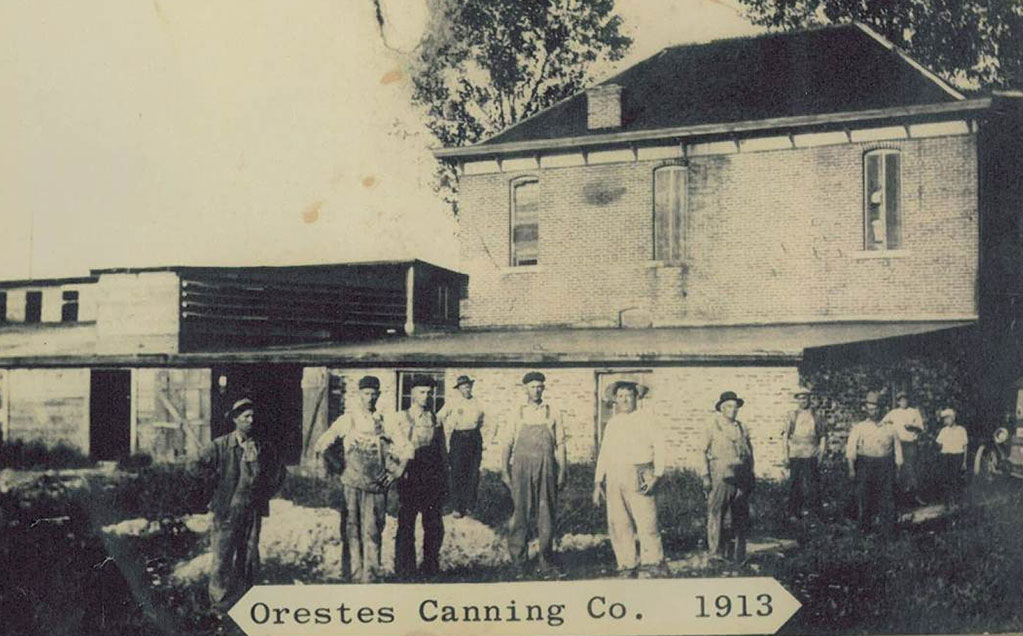 Image of Orestes Canning from 1913 now Red Gold Tomatoes