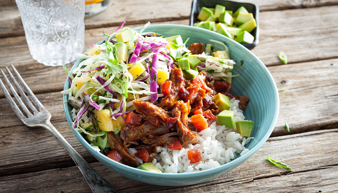 Carribbean Pork Bowls