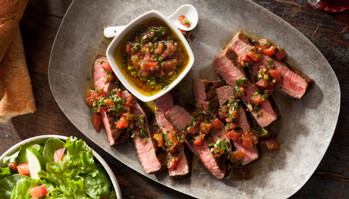 chimichurri-sauce-over-steak