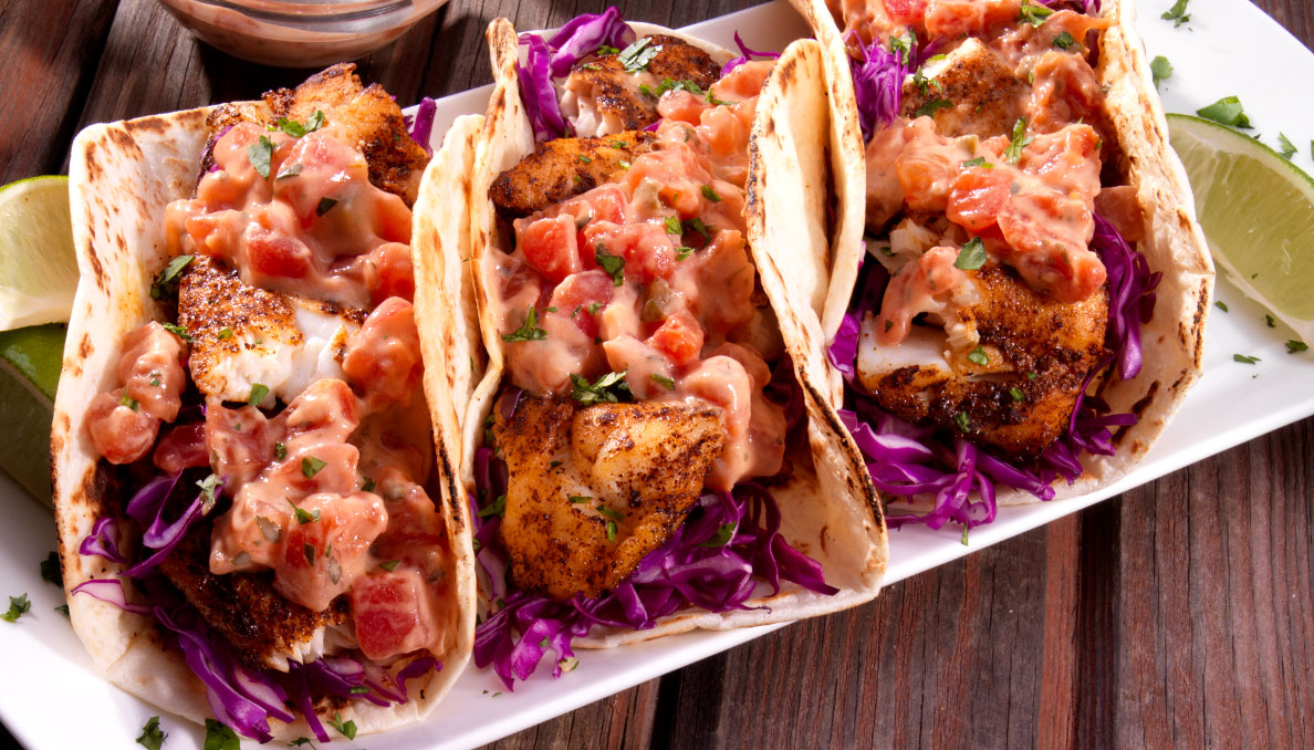 Fish Tacos with LIme Cilantro Aioli