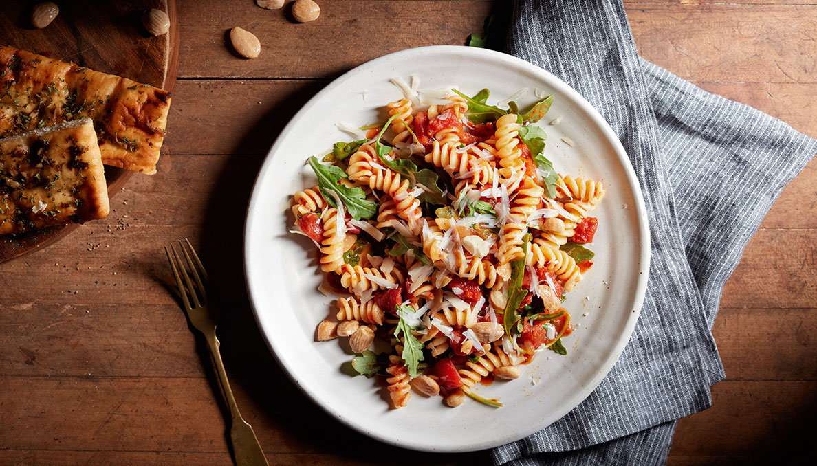 Fusilli Pasta with Herbed Tomatoes