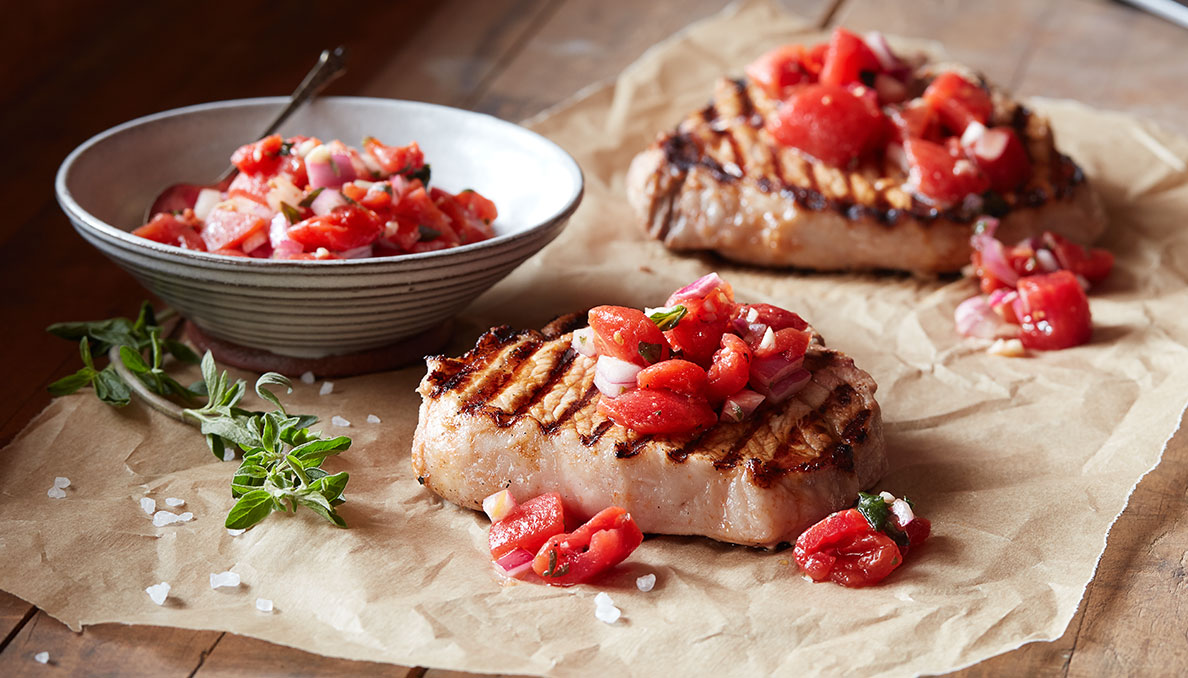 Pork Chops with Tomato Relish