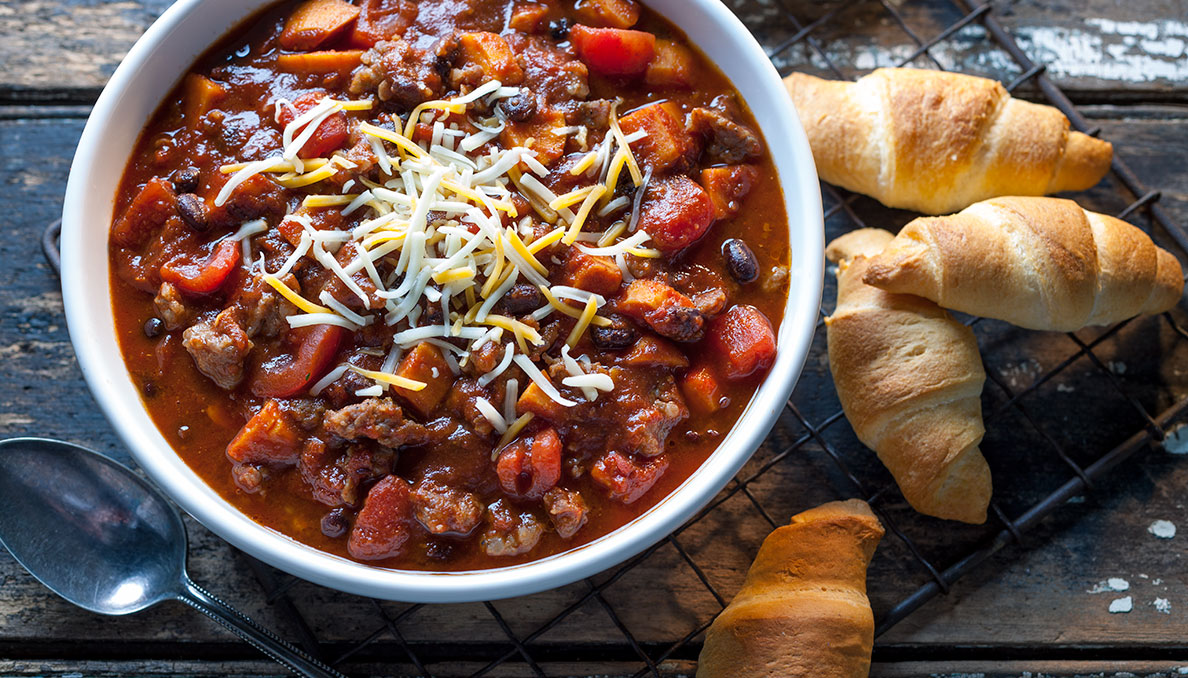 Sausage sweet potato chili