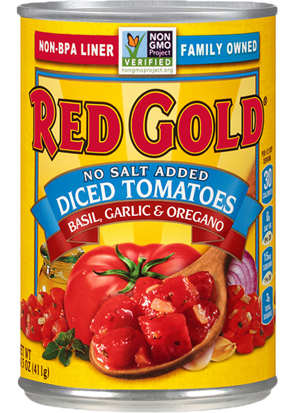 Image of Diced Tomatoes No Salt Added with Basil, Garlic & Oregano 14.5 oz