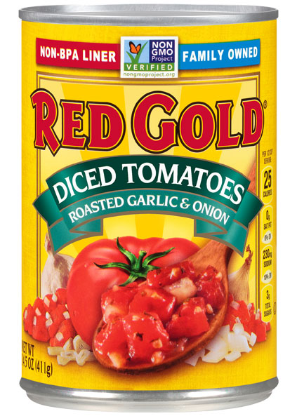 Image of Diced Tomatoes Roasted with Garlic & Onion 14.5 oz