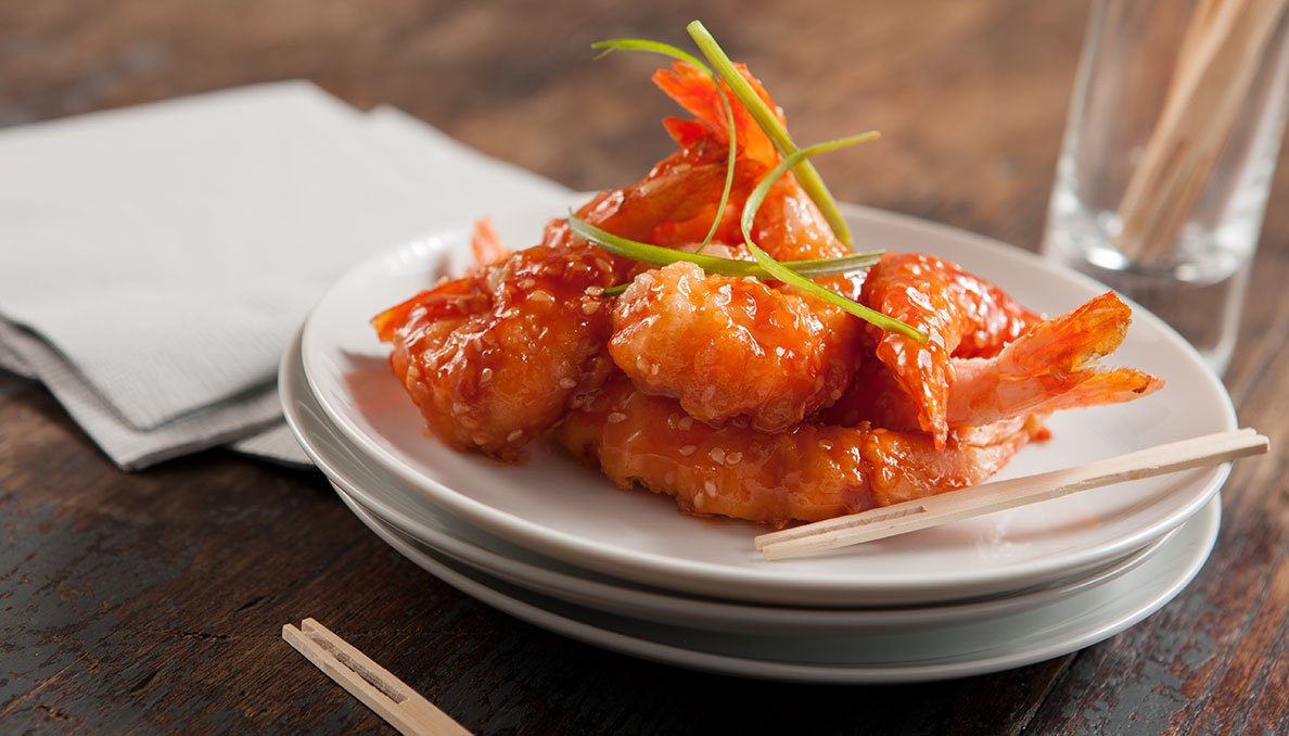 Chinese Ginger Shrimp Plated