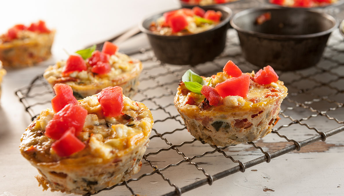 Spinach and artichoke egg cups