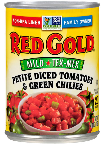 Image of Mild Tex-Mex Petite Diced Tomatoes & Green Chilies 10 oz