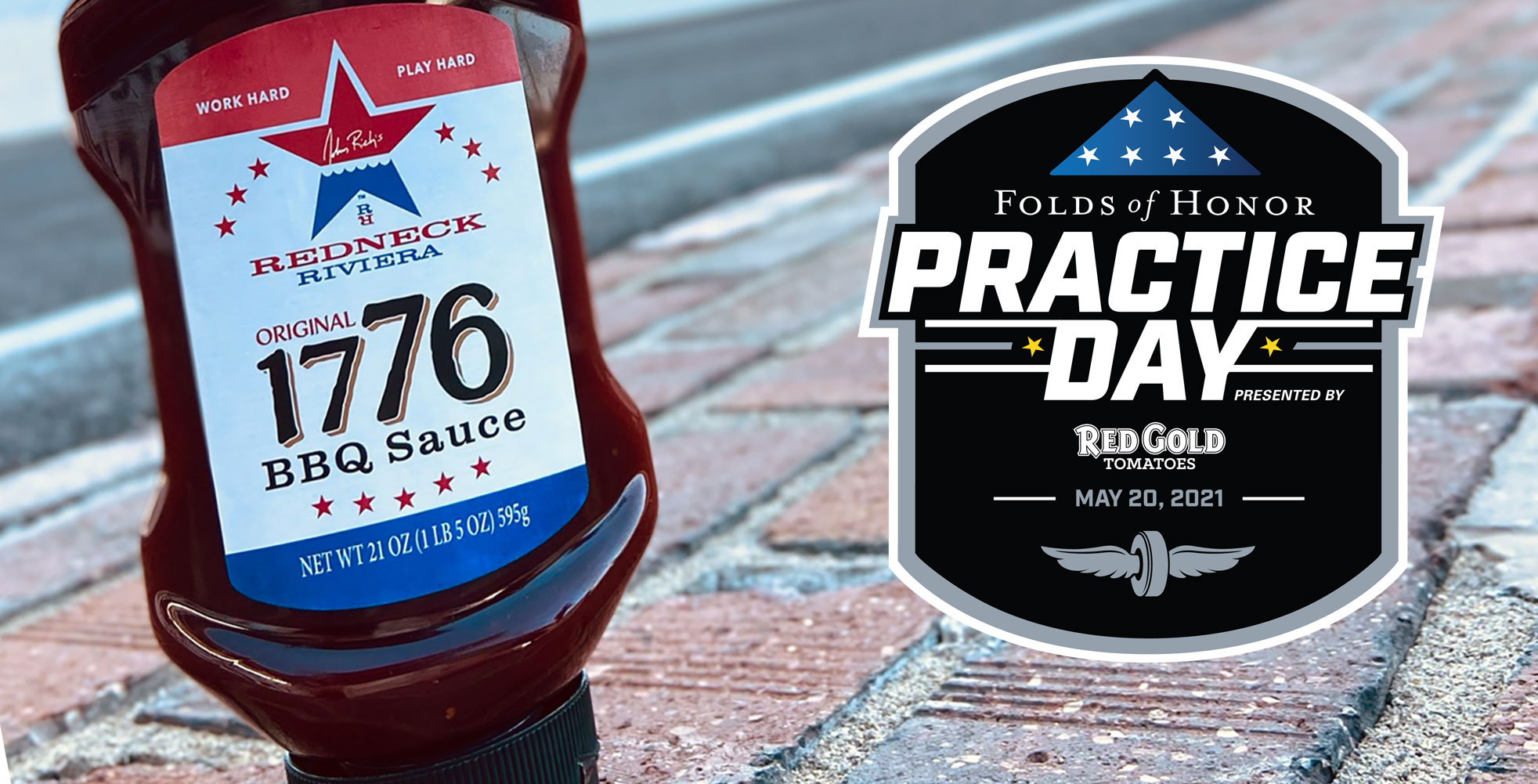 Image of 1776 BBQ Sauce on Indianapolis Motor Speedway yard of bricks