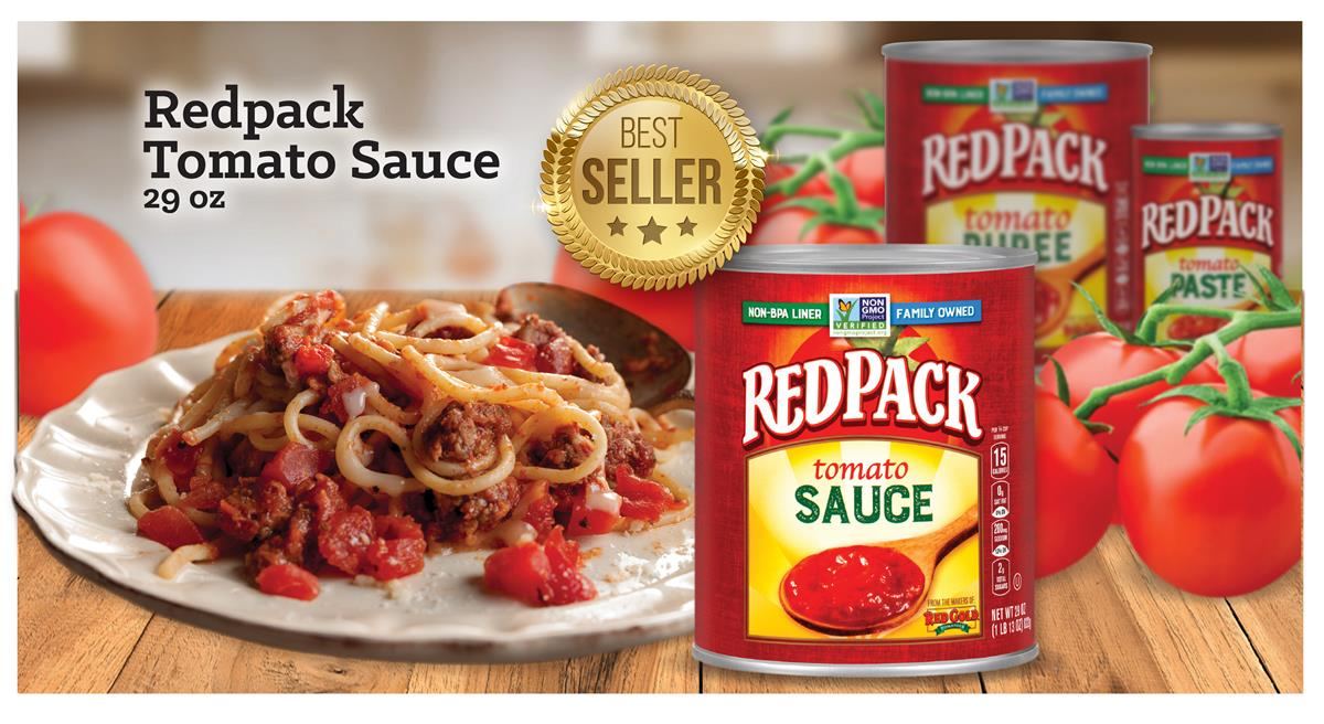 Image of Redpack best selling tomato paste and pasta dish