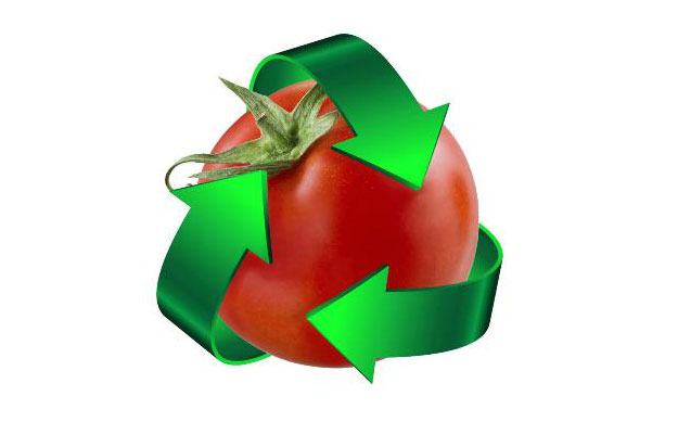 Image of Tomato with recycle arrows